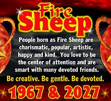 Chinese zodiac Fire Sheep 1967,2027 by Valxart