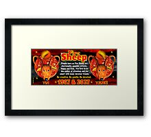 Chinese zodiac Fire Sheep 1967,2027 Framed Print