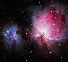 Space M42  Great Orion Nebula  Ghost Nebula by Adam Asar
