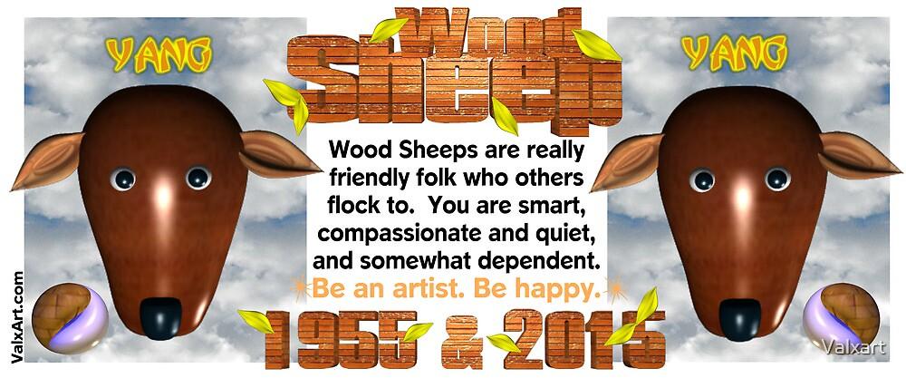 Chinese Zodiac, wood sheep, 1955, 2015, born by Valxart