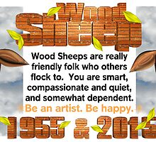 Chinese Zodiac, wood sheep, 1955, 2015, born by Valxart