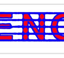 Tenor Red White & Blue Sticker