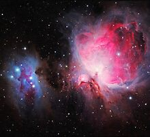 Space M42  Great Orion Nebula  Ghost Nebula art by Adam Asar