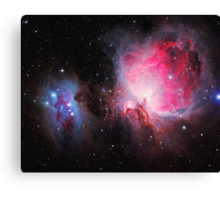 Space M42  Great Orion Nebula  Ghost Nebula art Canvas Print