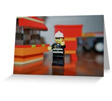 Fireman Bob to the rescue! Greeting Card