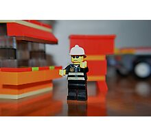 Fireman Bob to the rescue! Photographic Print
