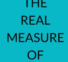 NAPOLEON HILL: ACTION  IS  THE  REAL  MEASURE  OF INTELLIGENCE Sticker