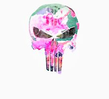 Bright Punisher Skull Womens Fitted T-Shirt
