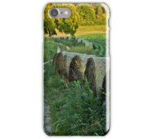 Tennessee Soy Field with Hayrolls iPhone Case/Skin