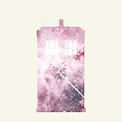 Doctor Who Tardis pink and cream nebula by Kate Bloomfield