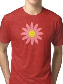 Flowers, Blossoms, Blooms, Petals - Pink Yellow  Tri-blend T-Shirt