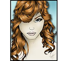 The Intriguing Woman... with Red Hair Photographic Print