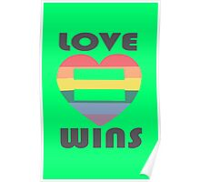 Love Wins Equality funny nerd geek geeky Poster