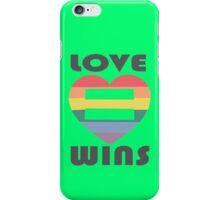 Love Wins Equality funny nerd geek geeky iPhone Case/Skin