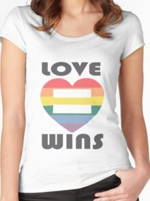 Love Wins Equality funny nerd geek geeky Women's Fitted Scoop T-Shirt