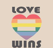 Love Wins Equality funny nerd geek geeky Unisex T-Shirt