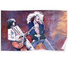 Led Zeppelin Jimi Page and Robert Plant  Poster