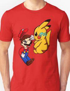 Mario Vs Pikachu T-Shirt
