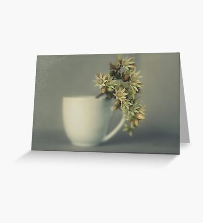 One cup of flower..... Greeting Card