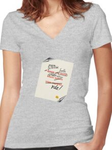 Imagine Earth when editors rule! Women's Fitted V-Neck T-Shirt