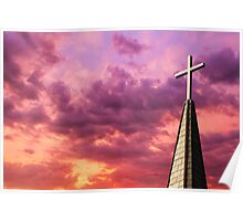 Steeple Cross Sky Poster
