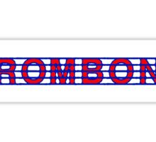 Trombone Red White & Blue II Sticker