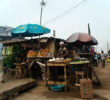 Street Shops Lagos 5 by Warren. A. Williams