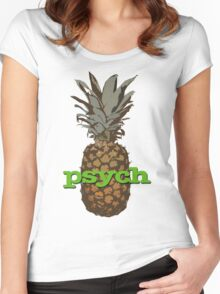 Psych Pineapple Women's Fitted Scoop T-Shirt