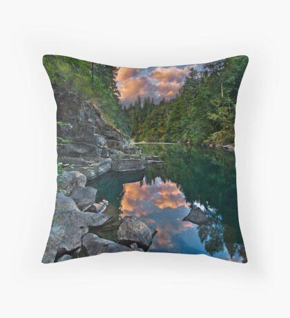 Cowichan River Paradise Throw Pillow