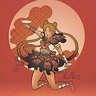 Samurai Moon by Christadaelia