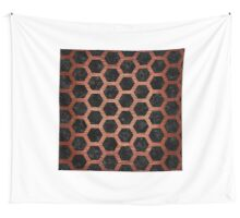 HXG2 BK MARBLE COPPER Wall Tapestry