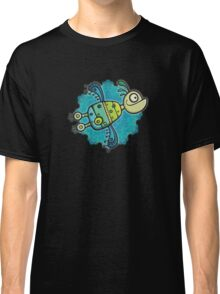 Love Birds In Space 3D ish Classic T-Shirt