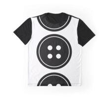 Simple Button Graphic T-Shirt