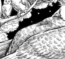 The Night Owl Sticker