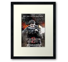 Captain McAwesome America Steel 2 Poster Framed Print