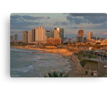 HA..!! The Light in Tel- Aviv - jaffa Canvas Print