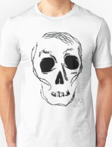 barb wire skull T-Shirt