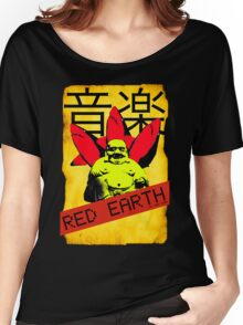 Red Earth (Buddha) by Rea Dora Women's Relaxed Fit T-Shirt