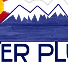 Silver Plume Colorado wood mountains Sticker