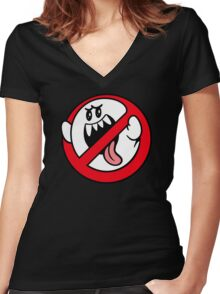 BOO-BUSTERS! Women's Fitted V-Neck T-Shirt