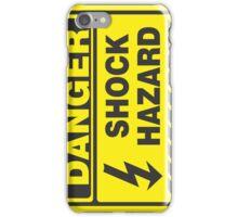 Danger Shock Hazard iPhone Case/Skin