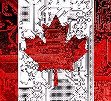 circuit board Canada (Flag) by sebmcnulty