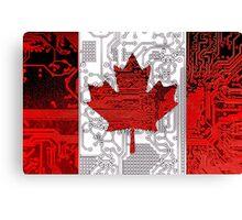 circuit board Canada (Flag) Canvas Print