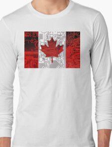 circuit board Canada (Flag) Long Sleeve T-Shirt