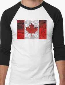 circuit board Canada (Flag) Men's Baseball ¾ T-Shirt