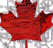 circuit board Canada (Flag) Sticker