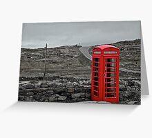 Red Phone Box.  Greeting Card