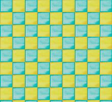 Minecraft Diamond and Gold block pattern by Monash93