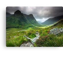 Scotland: Glencoe Valley Summer Canvas Print