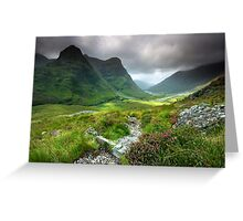 Scotland: Glencoe Valley Summer Greeting Card